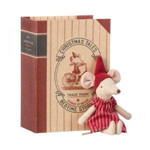 14-9720-01_christmas_mouse_in_book_big_sister Kongelundgaard Maileg